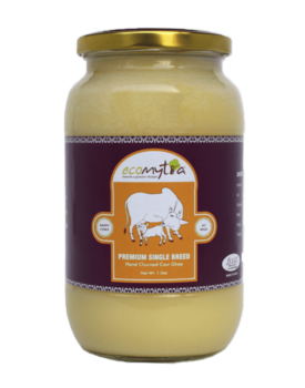 Ecomytra Premium Single Breed Desi Cow Ghee 1 liter